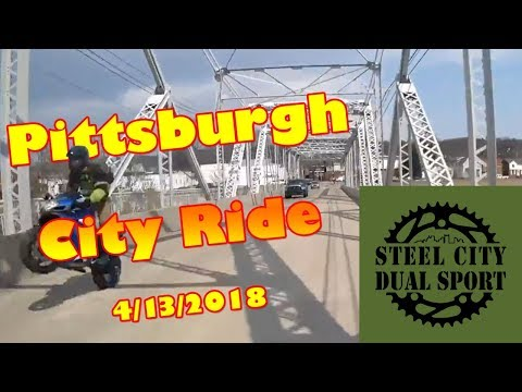 Steel City Dual Sport - City Ride Pittsburgh 4/13/2018