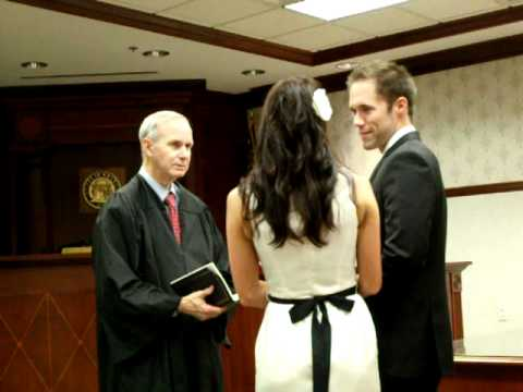Jack and Jenna's courthouse wedding ceremony