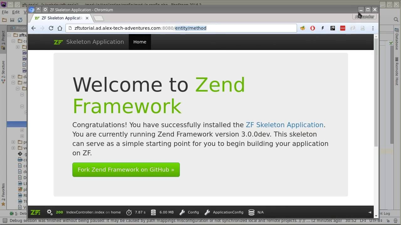 Zend Framework 3 tutorial 1: Skeleton walkthrough