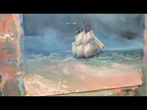 Oil painting. Seascape based on paintings by Ivan Aivazovsky. Part 2.