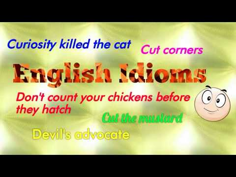 English Idioms | Most Used Idioms - Part 2
