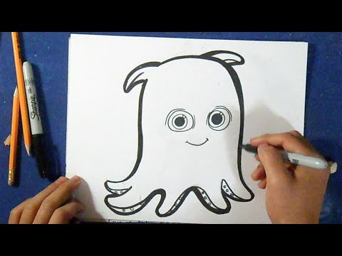 Cmo dibujar a Pearl el Pulpo  Buscando a Nemo  How to Draw