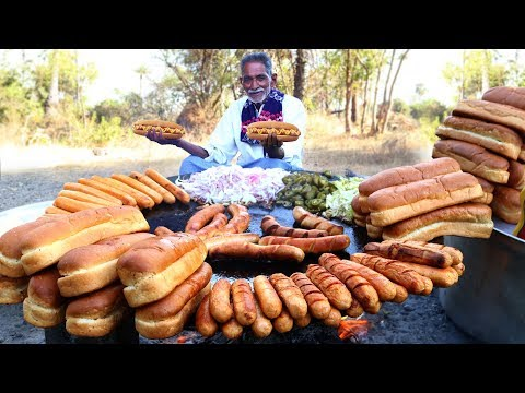 Hot Dogs Recipe | How to Make easy Hot Dogs | New York Chicken Hot Dog By Our Grandpa
