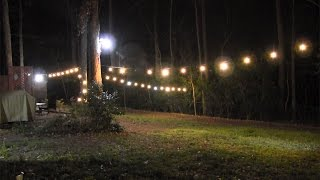 How to Run Lights Outside (& Light Up your Backyard)