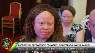 Presidential Empowerment for Women Entrepreneurs with Disability