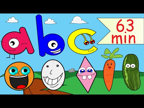 Shapes, Abc Nursery Rhyme, Phonics + More Kids Songs | 63min Collection