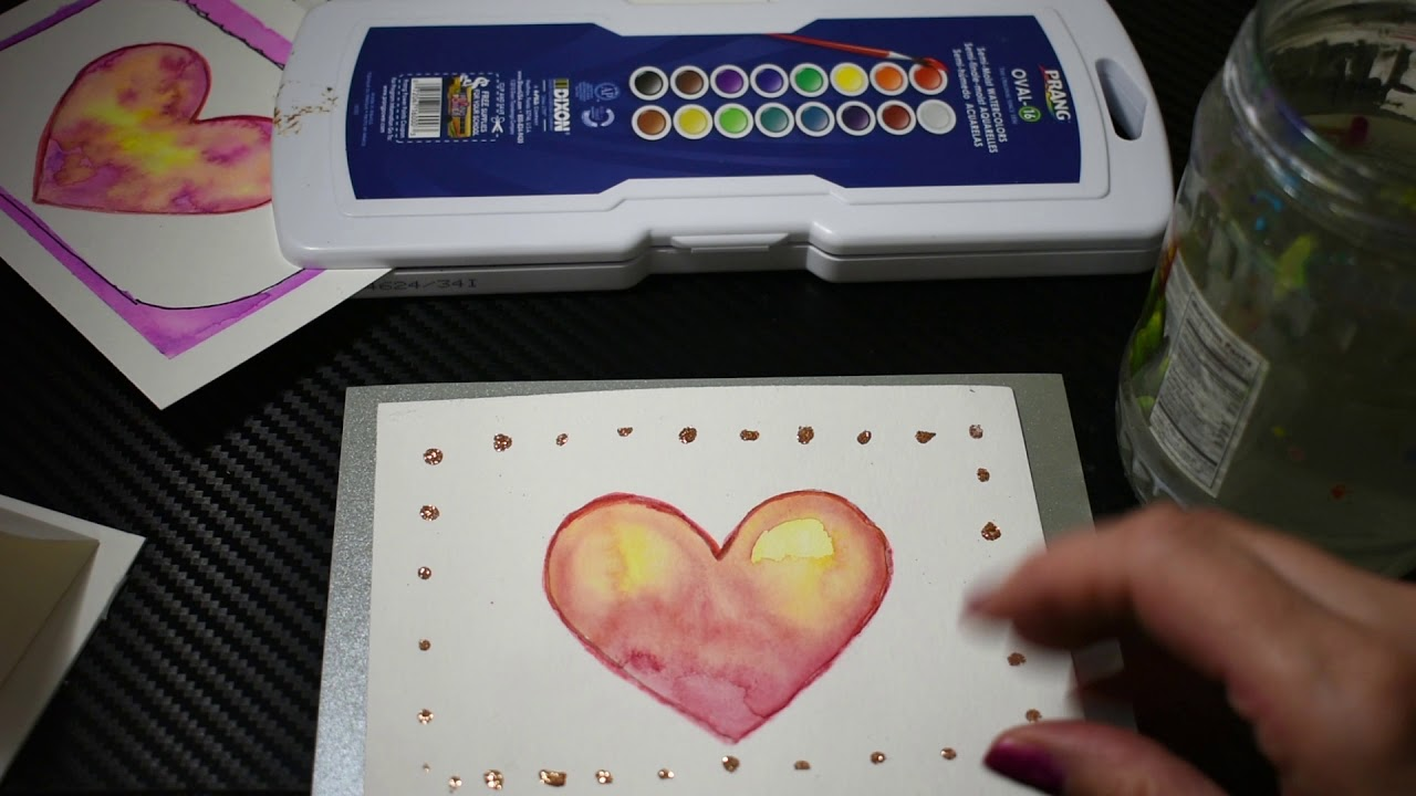 watercolor valentine cards  youtube