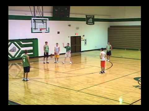 Rebound, Outlet, Post Up, Score - Post Toughness Drill