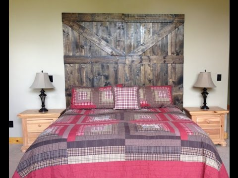 Rustic Barn Door Headboard | Reclaimed Barn Wood | Easy DIY   YouTube