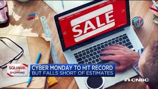 Cyber Monday sales hit a record but fall short of estimates
