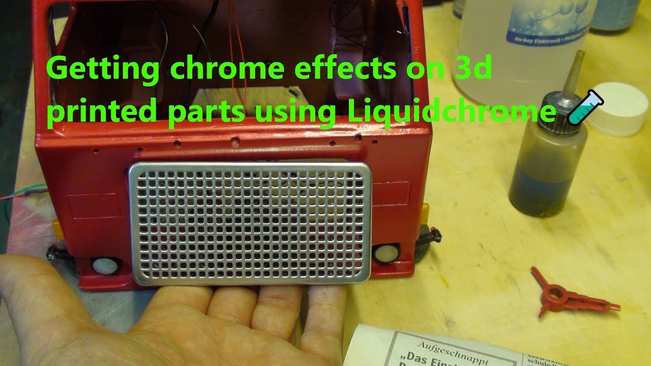 Getting chrome effects on 3d printed parts using Liquidchrome