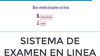 sistema de examenes en linea con php y mysql(CODIGO FUENTE GRATIS)