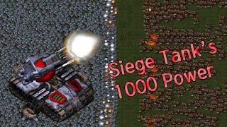 시즈탱크 1000대의 파괴력은? - 스타크래프트 리마스터