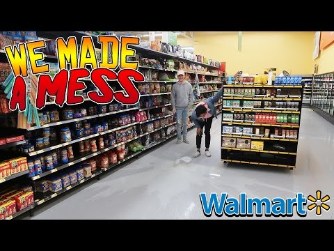 TRYING TO GET KICKED OUT OF WALMART (MILK GALLON SMASHING) // DOING YOUR DARES