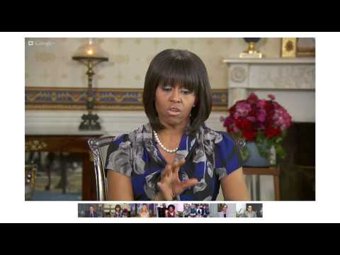 Michelle Obama: White House Hangout on Healthy...