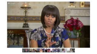 Michelle Obama: White House Hangout On Healthy Families With Kelly Ripa (2013)