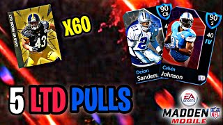 5 LIMITED TIME PULLS!! X60 LTD B.O.B. PACKS!! Madden Mobile 20 Pack Opening