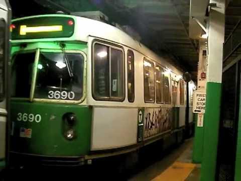 MBTA Trains at Boylston