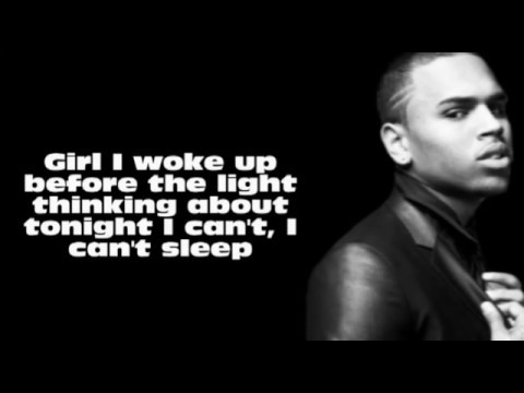 Chris Brown  Beg For It Lyrics On Screen