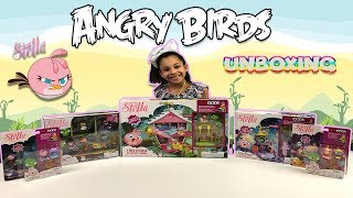 Angry Birds Stella Toys playset Collection Unboxing