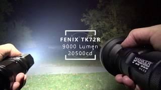 fenix TK72R / Manker MK35 - Beamshot-Vergleich