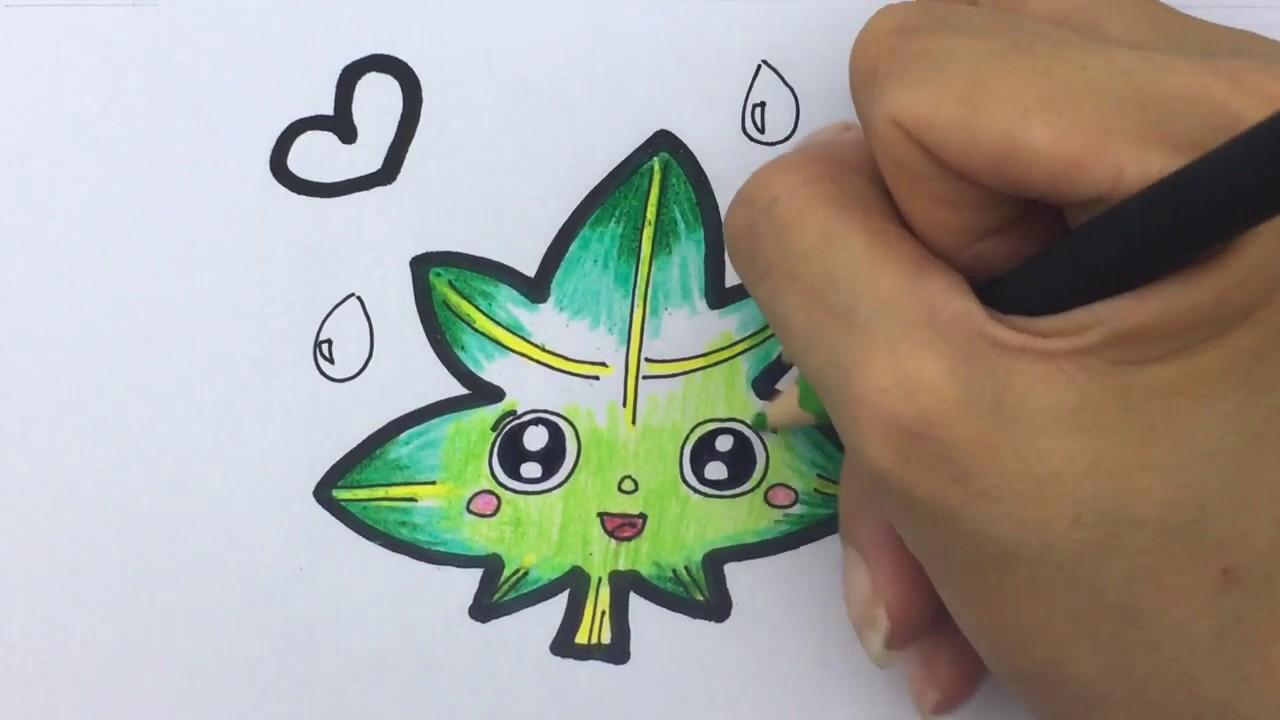 Cara gambar Kartun Daun - Belajar gambar Untuk anak ...