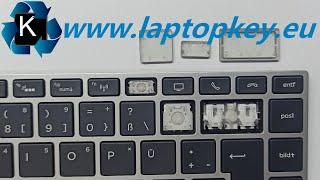 HP LAPTOP KEYBOARD KEY REPAIR GUIDE 450 455 470 G5 G6 745 846 840 How to Install Fix keys DIY