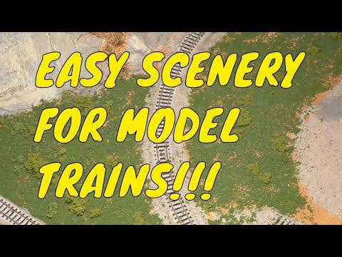 Easy Model Train layout Scenery: Base Layer