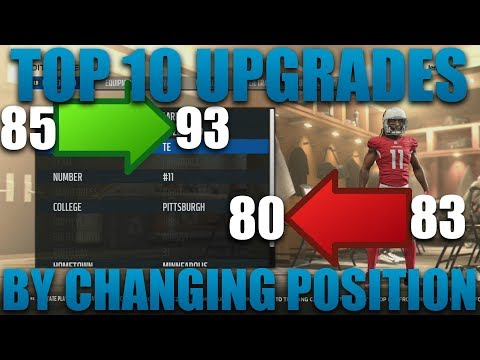 Top 10 Player Overall Upgrades By Changing Positions! Madden 18 Franchise Tips!