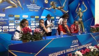 01-10-2014: Interviste post ITA-AZE Oksana Parkhomenko (AZE)