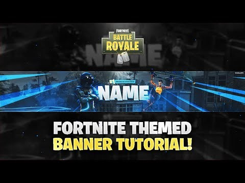 Tutorial: How To Make A Fortnite Themed YouTube Banner/Twitter Header! *EASY*