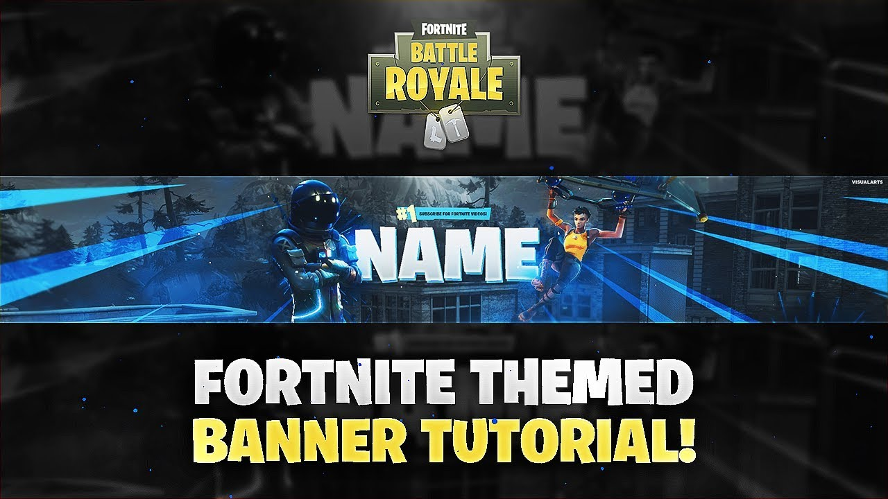 Tutorial: How To Make A Fortnite Themed YouTube Banner/Twitter ...