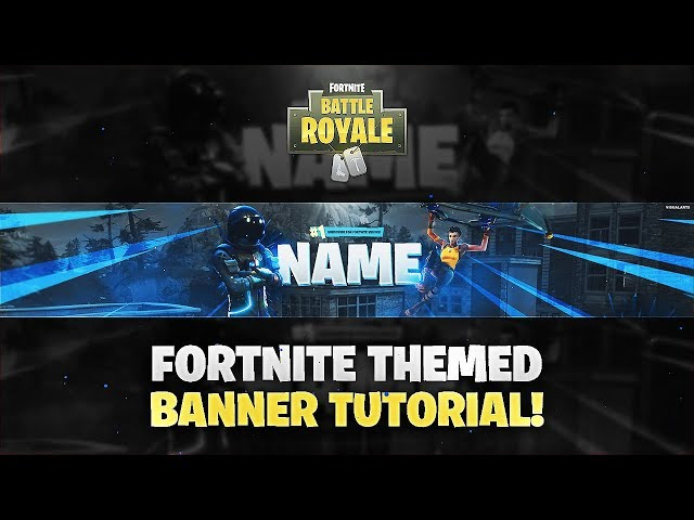 Tutorial: How To Make A Fortnite Themed YouTube Banner/Twitter Header! *EASY*