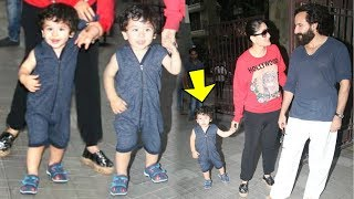 Taimur Ali Khan POSES CUTELY For Media With Mommy Kareena Kapoor And Daddy Saif Ali Khan