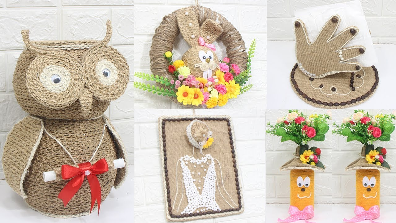 5 Jute Craft Ideas Home Decorating Ideas Handmade 8