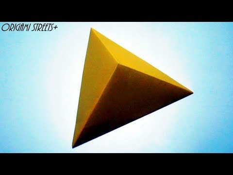 How to make a triangular pyramid out of paper