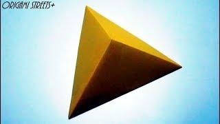Как сделать треугольную пирамиду из бумаги
