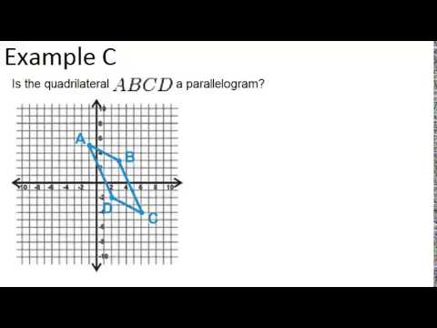 Quadrilaterals that are Parallelograms: Examples (Geometry