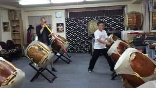 Taiko and Didgeridoo improvisation - Tokyo