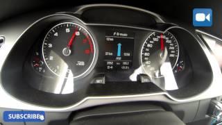 Audi A4 Avant 1.8 TFSI 170 HP MultiTronic 0-205 km/h Acceleration