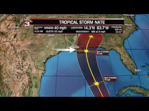 Tropical Storm Nate Update : 11:30 am October 5, 2017
