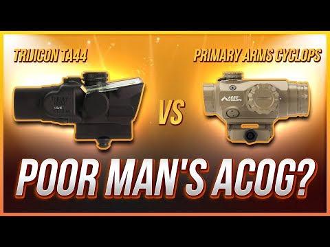 Poor Man's ACOG? Trijicon TA44 vs Primary Arms Cyclops Torture Test