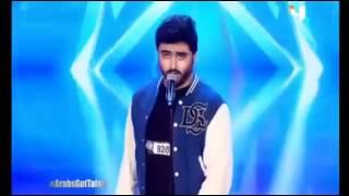 شاب من سعودية يقلد اصوات بطريقة رهيبة في arabs got talent 2017