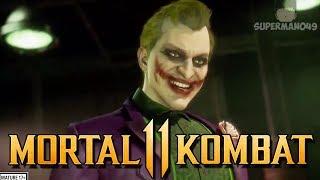 "THE JOKER FIRST IN GAME LOOK! - Mortal Kombat 11: ""Joker"" Intro Dialogue With Harley Quinn Cassie"