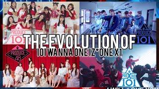 Produce101/48/X101 (프로듀스) - Music Evolution   2015 - 2019 #WeTrustX1