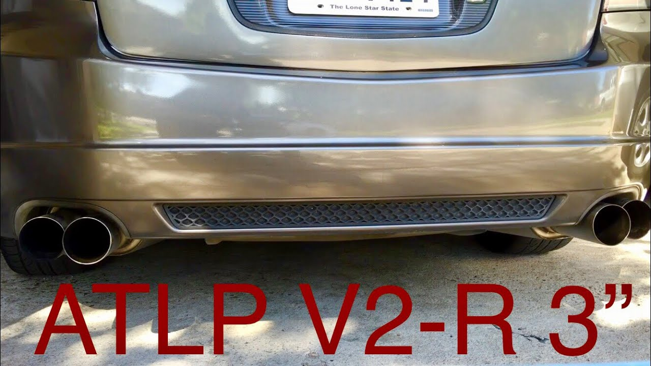 acura tl type s exhaust atlp v2 r 3 w mod list