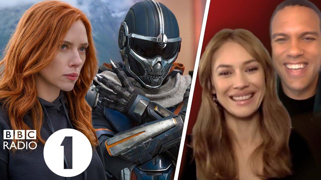 """That's mummy!"" Olga Kurylenko and O-T Fagbenle on Black Widow, Taskmaster and family reactions"