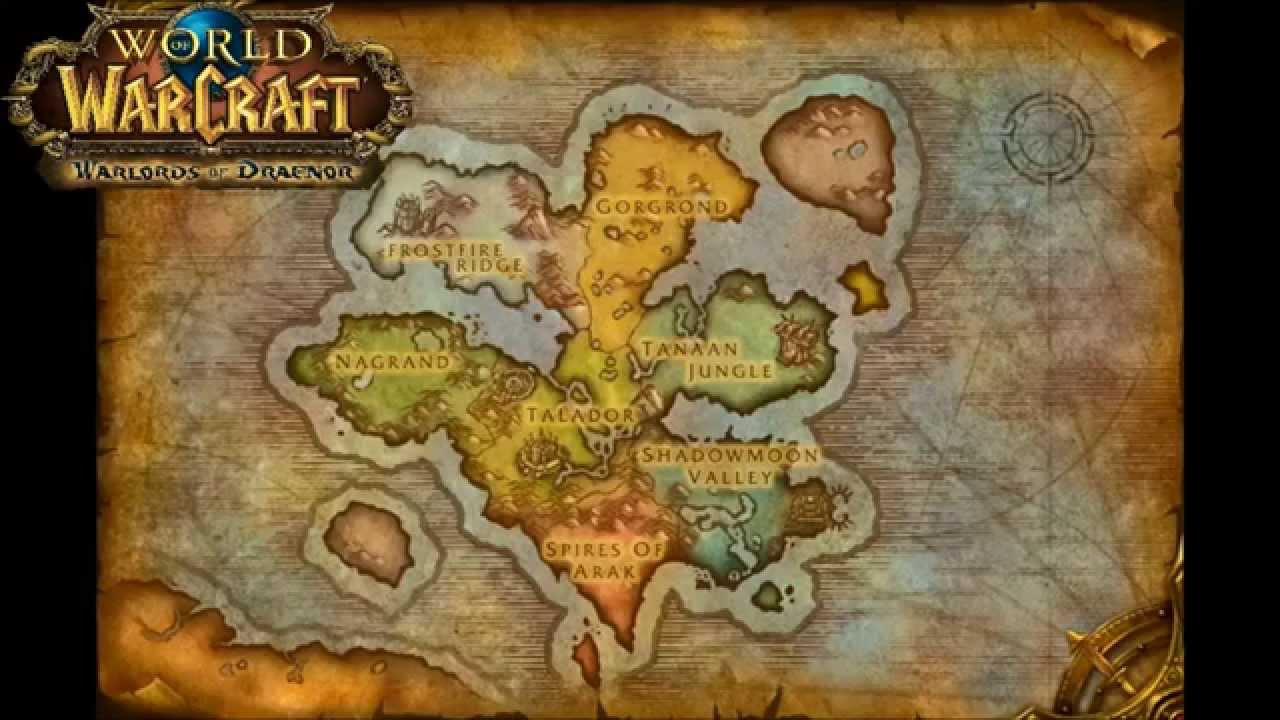 Wow Wod Map Warlords of Draenor Alpha Map   YouTube