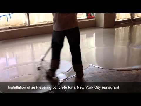 SelfLeveling Concrete Installation YouTube - Cost of self leveling concrete floor
