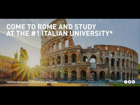 Study in Rome at the n.1 Italian University: LUISS, the key for your future